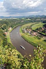 Elbknie bei Bastei in Sachsen