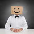 Man with Box and Smiley