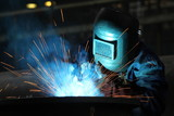 Fototapety welders worker in the factory