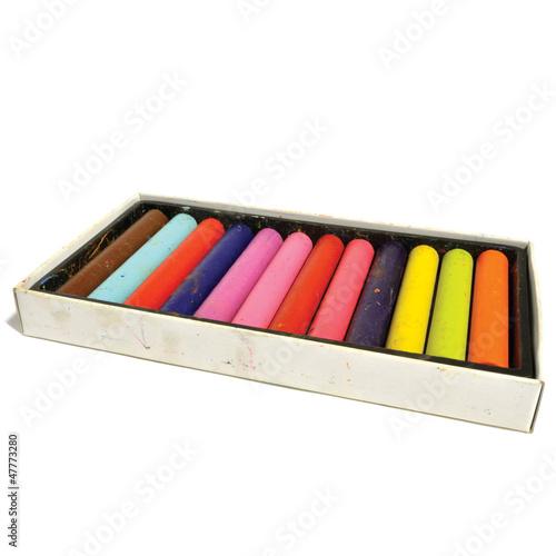 Box of colour pastels