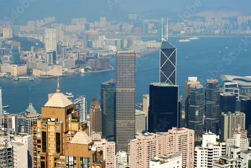 China, Hong Kong cityscape from the Peak_