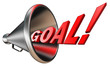 goal red word in megaphone