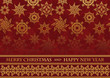 Christmas card on seamless background with snowflakes