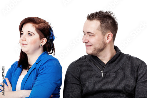 Couple having differences of opinion