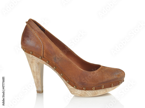 women shoe on white background