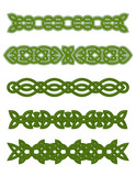 Green celtic ornaments and embellishments poster