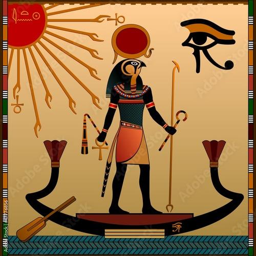 bohove-stareho-egypta-ateny-a-ra-obraz-nabozenstvi