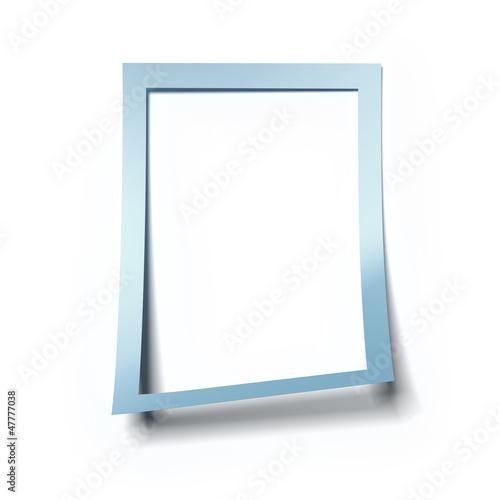 Blank blue frame
