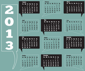 12 month calendar for 2013