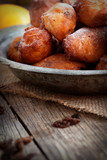 Deep fried fritters donuts