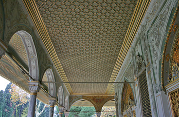 A Detail of Topkapi Palas' Ceilings in Istanbul