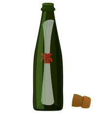 Bottle massage vector