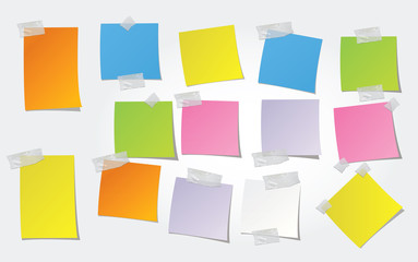 post-it de couleur vierges - pense-bête
