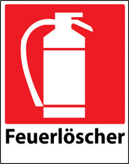 Extinguisher sign
