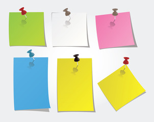post it vierges de couleur
