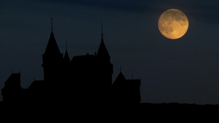 Slovakia Bojnice Castle moonrise
