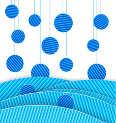 Abstract blue dots vector