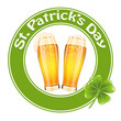 St.Patrick's Day banner with two beer glass