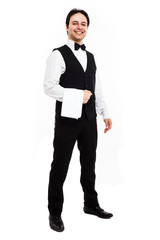 Full length waiter portrait