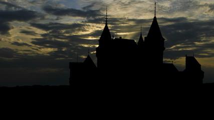 Slovakia Bojnice Castle sunset