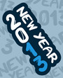 2013 new year art sticker