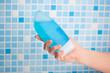 shower gel in hand