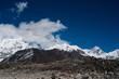 Snowed Mountain range landscape in Himalayas
