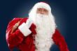 santa claus with his gift bag