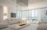 Awesome beach waterfront interior room with sea view