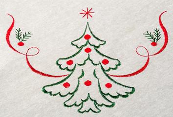 Christmas tree on canvas