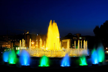 Fountain in Barcelona.Spain.