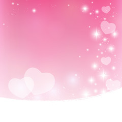 Pink Valentine starry vector background
