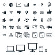 40 icons, set for programming, gaming and web-shop