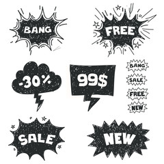 Sale Comic Bubbles