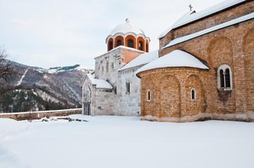 Studenica monastery yard