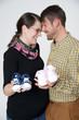 Glückliches Paar in der Schwangerschaft
