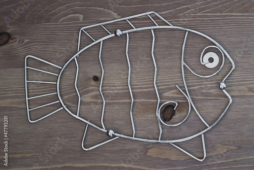 Decorative metal fish