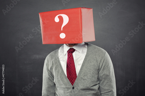 Man with Box and Question