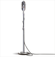 Old styled microphone vector