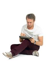 student mit tablet computer