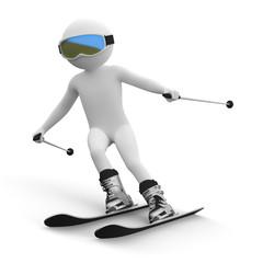 3d human - ski