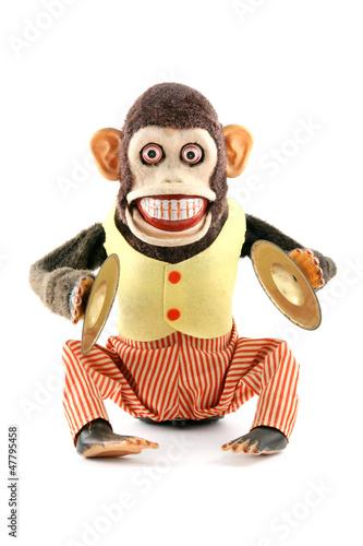 Vintage antique mechanical monkey - 47795458