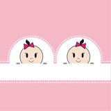 Fototapety Zwillinge Karte rosa