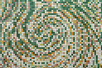 Texture from a multi-colored small tile