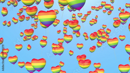 balloons from gay pride