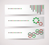 Vector banners with circles as main elements