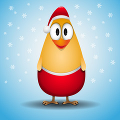 Cute little Santa Chicken