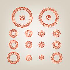 Round decorative shapes