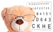 Teddy Bear with Glasses at the Eye Doctor