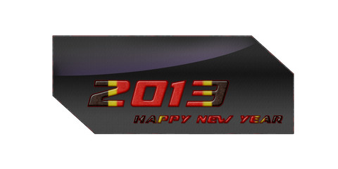 happy new year 2013 color